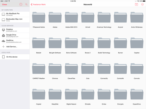 parallels access ipad file manager