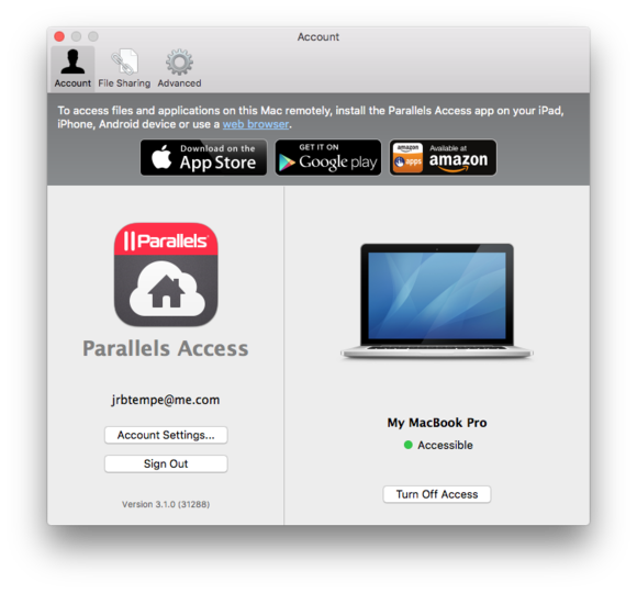 parallels access mac desktop agent