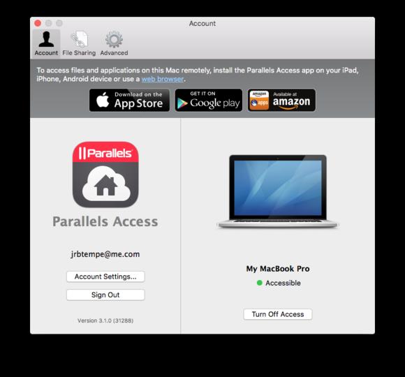 parallels access mac desktop agent