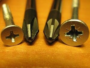 tools, screws and screwdriver
