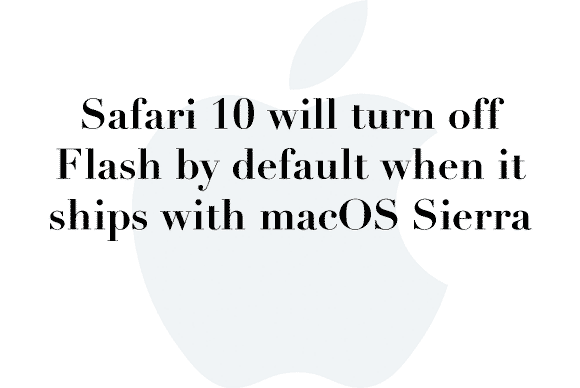 safari 10 flash