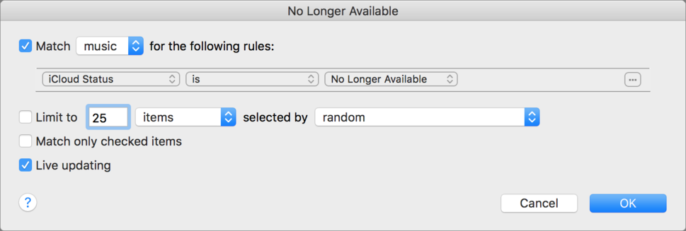 """When """"No Longer Available"""" strikes in iCloud Music Library 