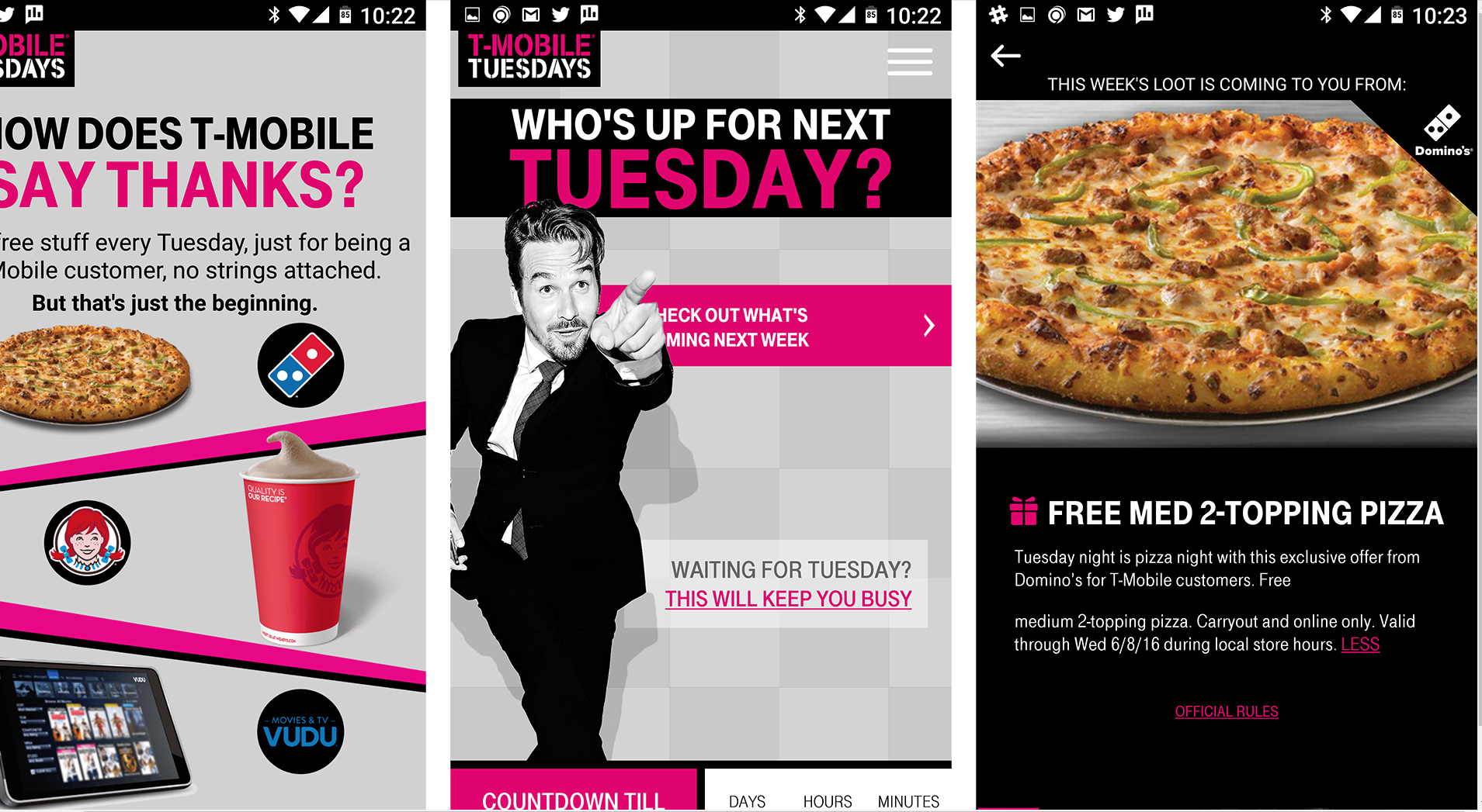T-Mobile offers free stock, pizza, movie rentals, and more