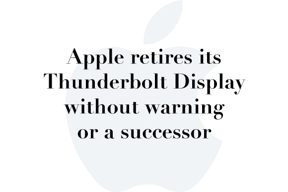 thunderbolt display discontinued