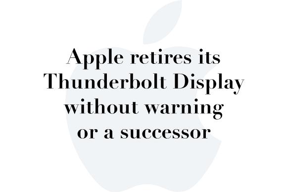 thunderbolt display discontinued