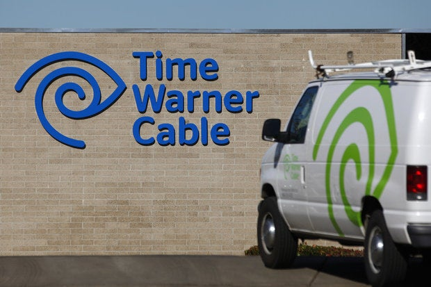 time warner cable logo van