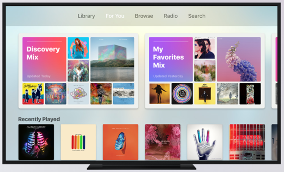 tvos10 apple music 2016