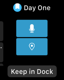 watch os3 add app to dock