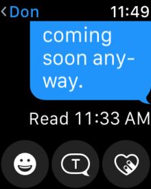 watchos 3 messaging