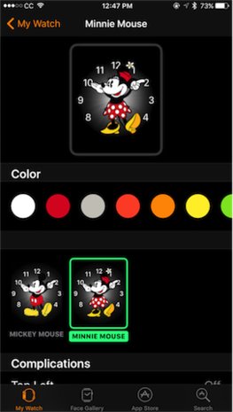 WatchOS 3 Why Does Minnie Get More Outfits Than Mickey