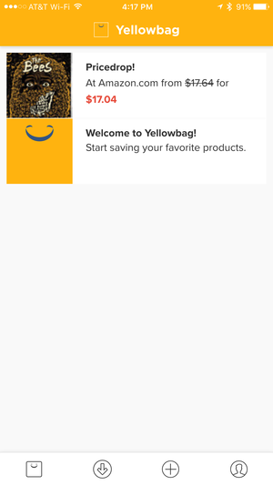 yellowbag iphone notifications