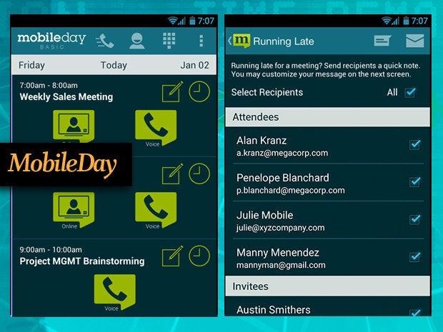 MobileDay dialing app