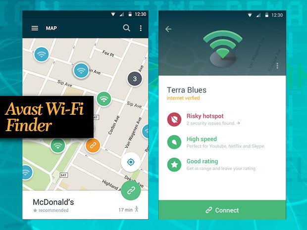 Avast Wi-Fi Finder app