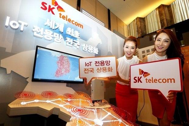 sk telecom lorawan iot network