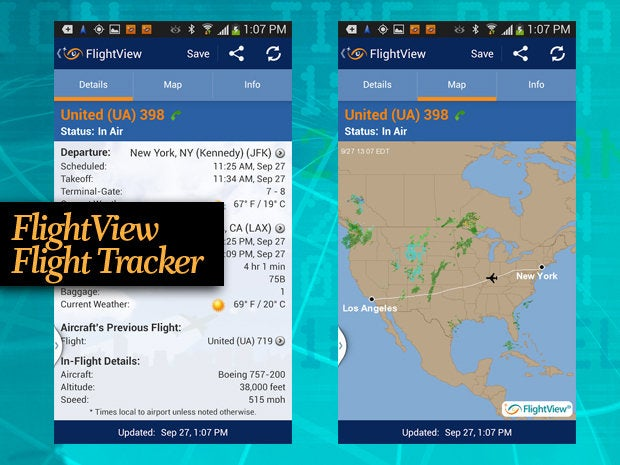 FlightView Flight Tracker travel app