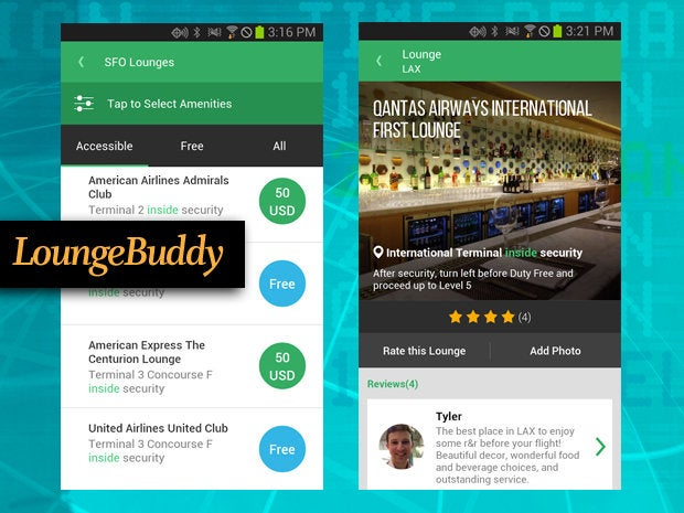 LoungeBuddy travel app