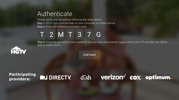 android tv authenticate