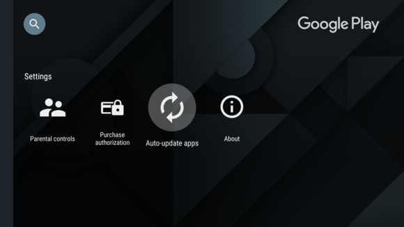 android tv update your apps
