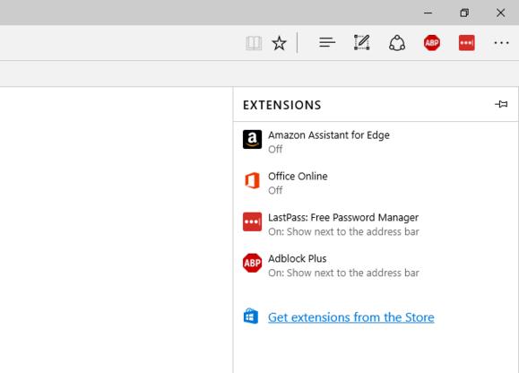 Windows 10 anniversary update edge extensions