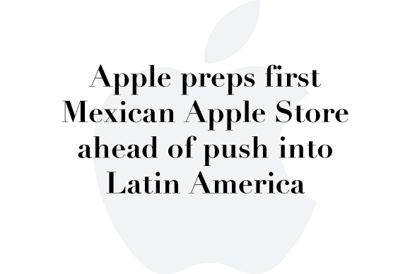 apple preps first mexican