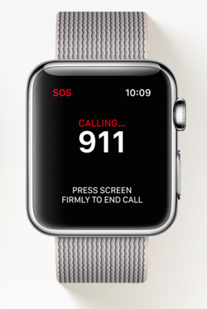 apple watch sos 911