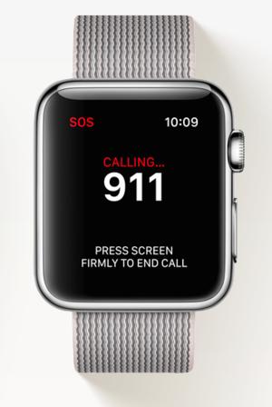 apple watch sos 911