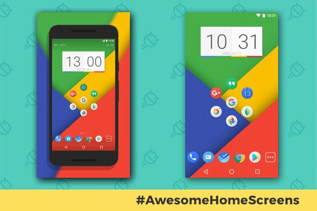Awesome Android Home Screens: The Googley Minimalist