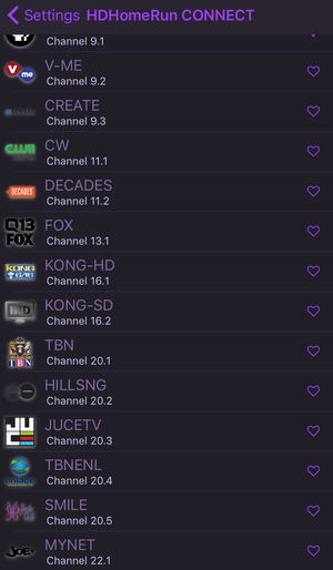 channels ios channel listing