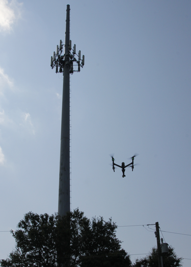 AT&T drone in air 3