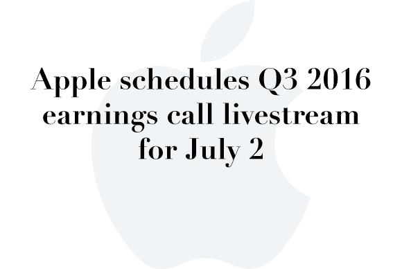 earnings call q3 2016