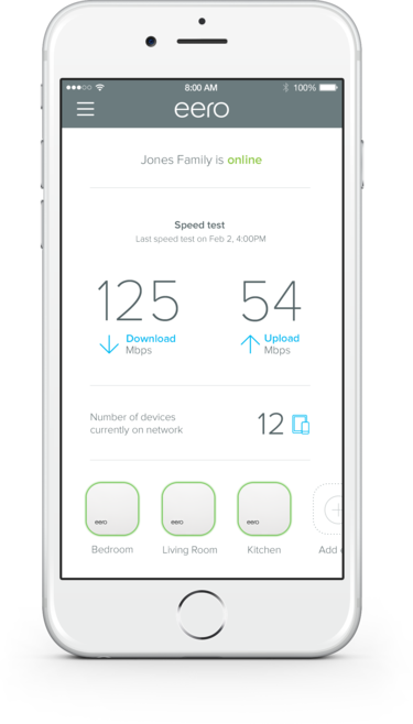 eero dashboard screenshot