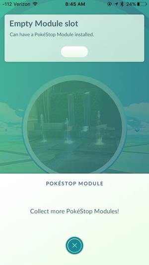 empty module slot