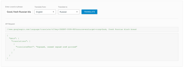 google cloud translate api russian