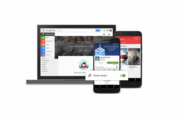 google play family library sharing