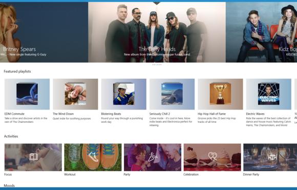 Windows 10 groove music playlists