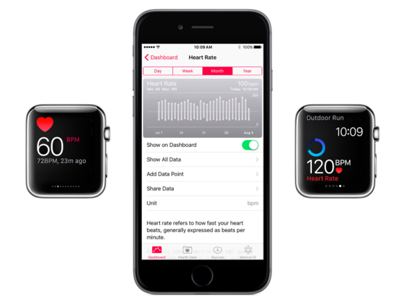 health heart rate apple watch