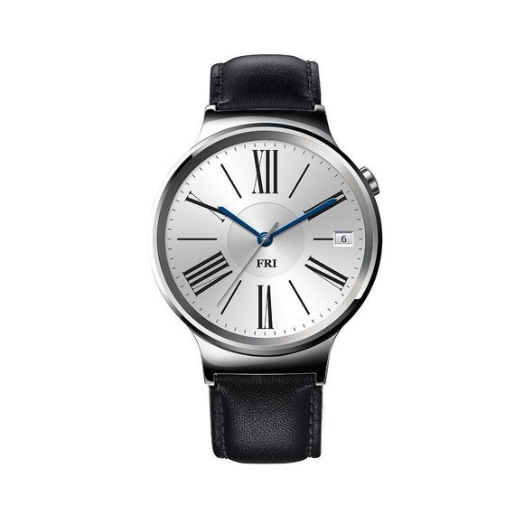 Huawei Watch - Stainless Steel w/ Black Leather Band Version
