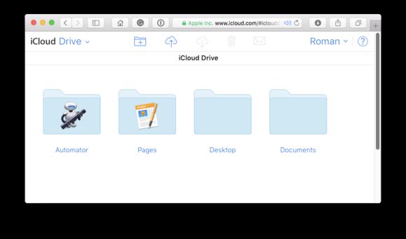 icloud website drive folders
