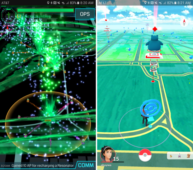 ingress pokemon comparemap