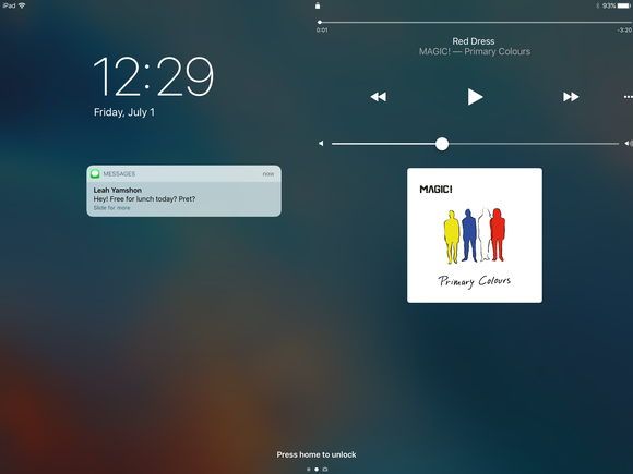 ios 10 ipad lock screen