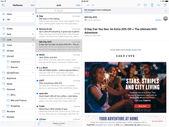 ios 10 ipad mail
