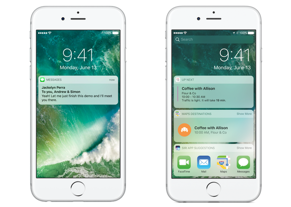 Get To Know Ios 10s Radically New Lock Screen Macworld