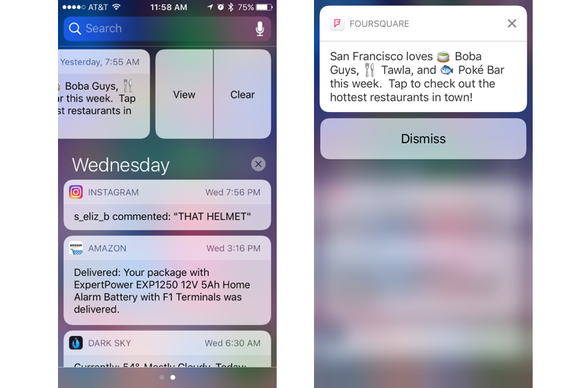 ios10 no 3d touch notifications