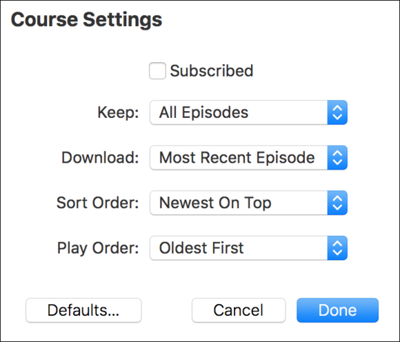 itunesu settings