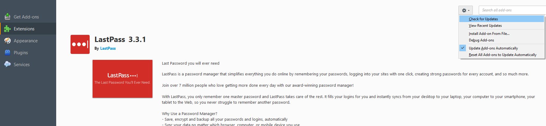 How to make sure you're using the latest version of LastPass