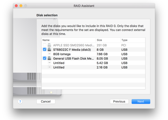 macos sierra disk utility choose drives