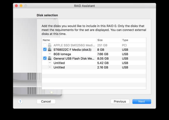 macos sierra disk utility choose drives