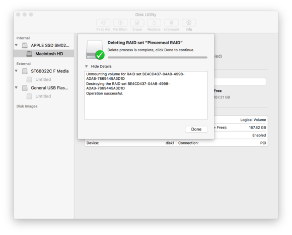 macos sierra disk utility deleting raid