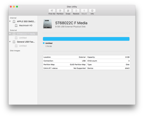 macos sierra disk utility done raid delete