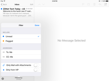mail filter ios10
